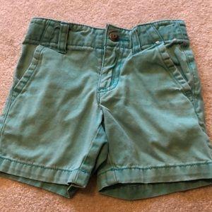 Gymboree teal shorts size 2t khaki style prep fit